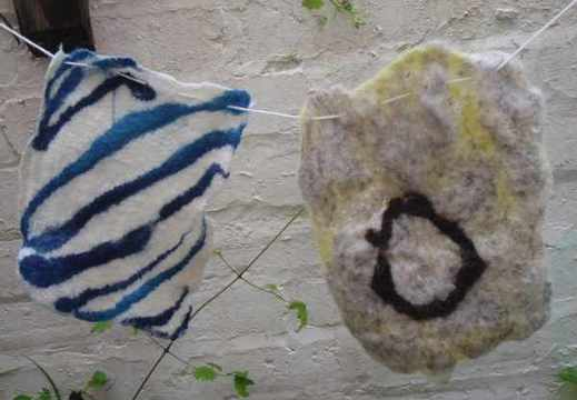Felt bunting made with Freelance Ranger for Auldouran Wetland Gardens