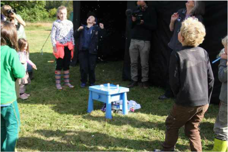 Astonished looks on everyone's faces as the popping rockets pop! Part of the Rocket Lab activity from the Freelance Ranger