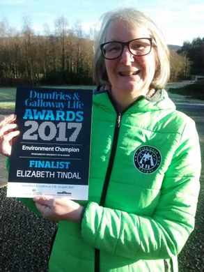I was really delighted to be a finalist in the Dumfries and Galloway Life Awards in the Environmental Champion category. Thanks to the people who nominated me.