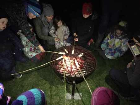 Campfire cooking at Coreswall Estate with Freelance Ranger